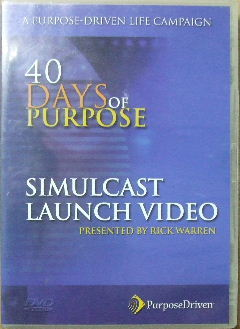 Image for 40 Days of Purpose - simulcast launch video.