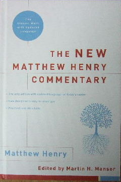 Image for The New Matthew Henry Commentary  (Editor-Martin H Manser)