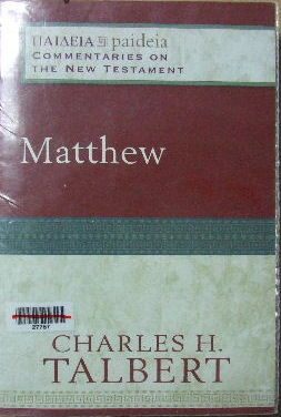 Image for Matthew  ( Paideia: Commentaries on the New Testament )