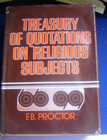 Image for Treasury of Quotations on Religious Subjects.