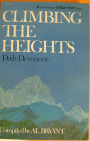 Image for Climbing the Heights - Large Print Edition  Daily Devotionals
