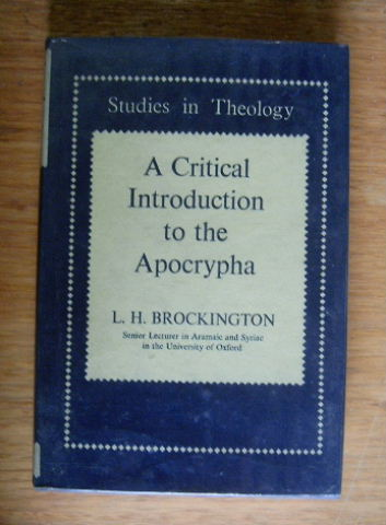 Image for A Critical Introduction to the Apocrypha.