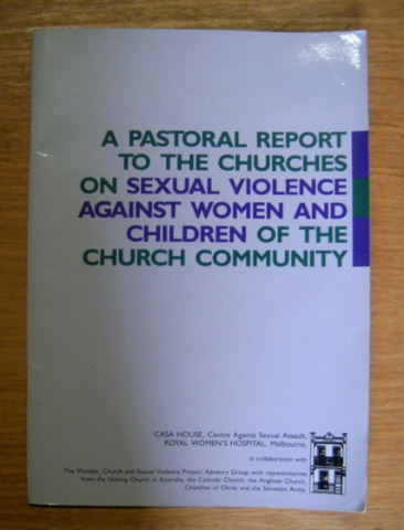 Image for A Pastoral report to the Churches on Sexual Violence.