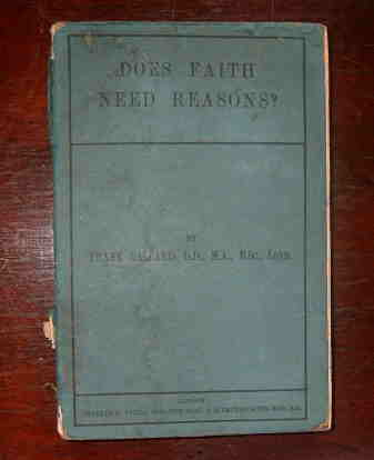 Image for Does Faith Need Reasons.