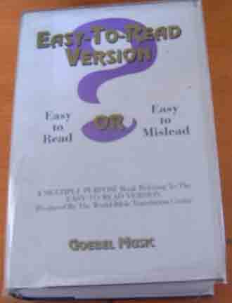 Image for Easy to Read Version; Easy to Read Or Easy to Mislead: a Multiple Purpose Book Relating to the Easy-to-Read Version.