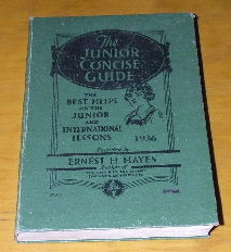 Image for The Junior Concise Guide, 1936  Junior Course of the British Sunday Schools Lessons Council