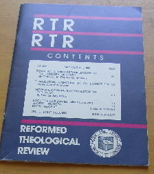 Image for Reformed Theological Review, Vol. 49, No. 2 (May - August, 1990).