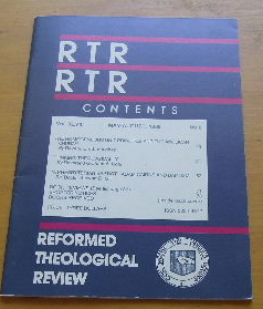 Image for Reformed Theological Review, Vol. 48, No. 2 (May - August, 1989).