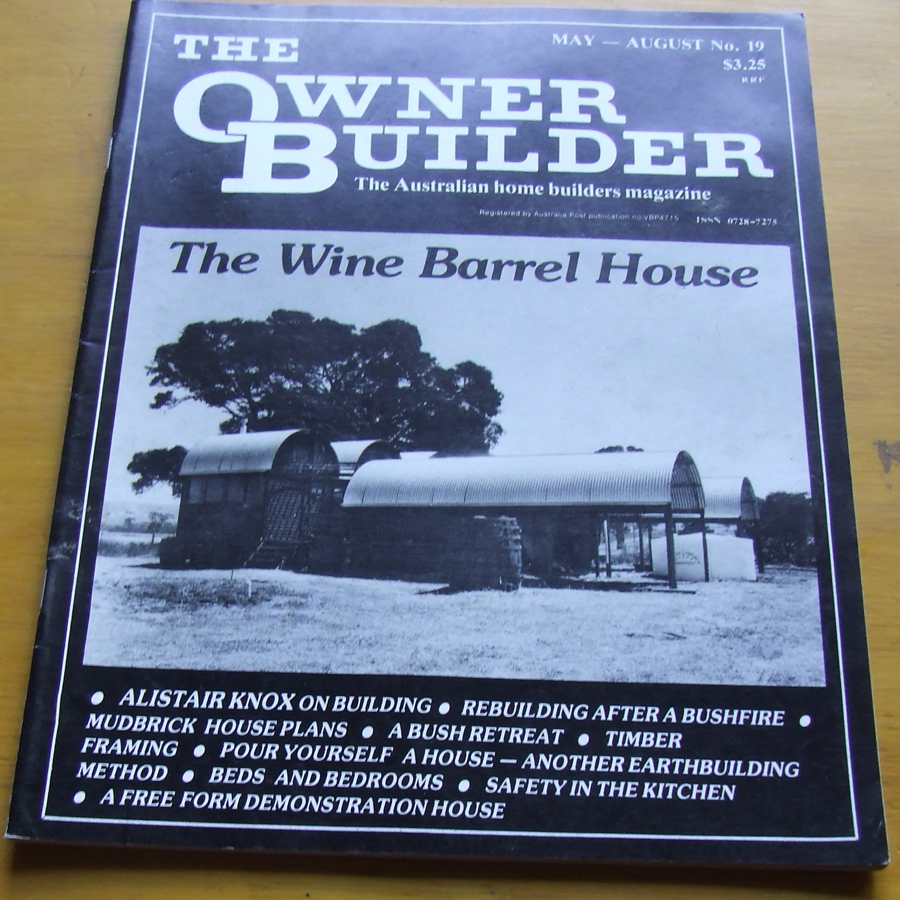 Image for The Owner Builder. The Australian Home Builders Magazine. No 19 1986.