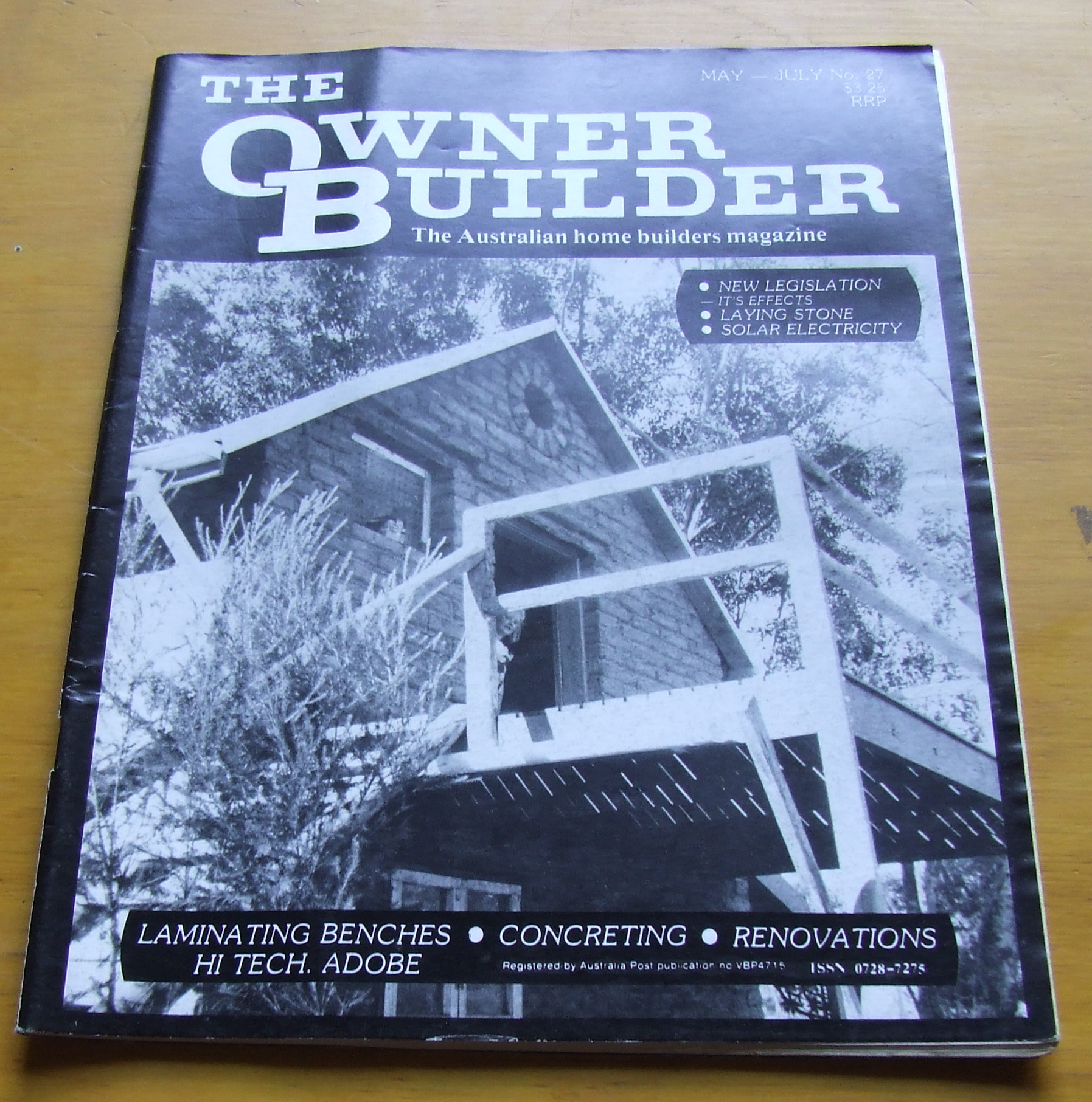 Image for The Owner Builder. The Australian Home Builders Magazine. No 27 1988.