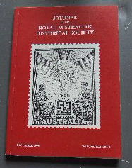 Image for Journal of the Royal Australian Historical Society December 1995 Volume 81 Part 2.