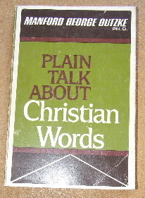 Image for Plain Talk About Christian Words.