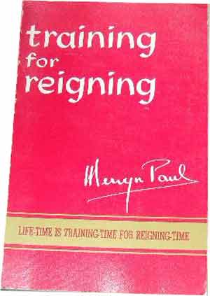 Image for Training For Reigning  Life tTme is Training Time for Reigning Time