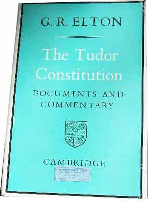 Image for The Tudor Constitution  Documents and Commentary
