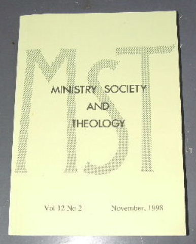Image for Ministry, Society and Theology 12:2  November 1998.