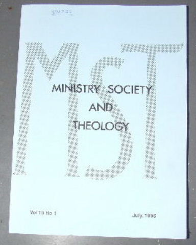 Image for Ministry, Society and Theology 10:1 July 1996.