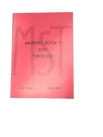 Image for Ministry, Society and Theology 13:1 July 1999.