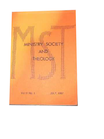 Image for Ministry, Society and Theology 11:1 July 1997.