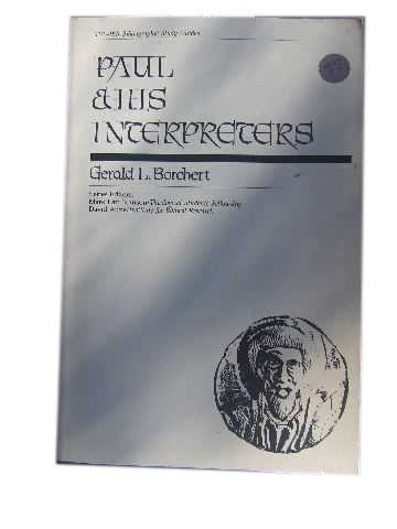 Image for Paul & His Interpreters  An Annotated Bibliography