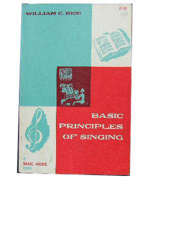 Image for Basic Principles of Singing.