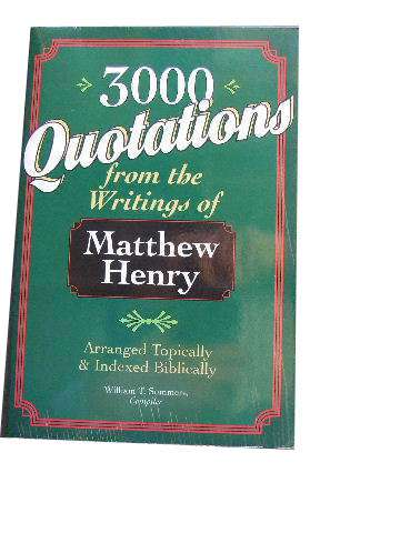 Image for 3000 Qotations From Matthew Henry.