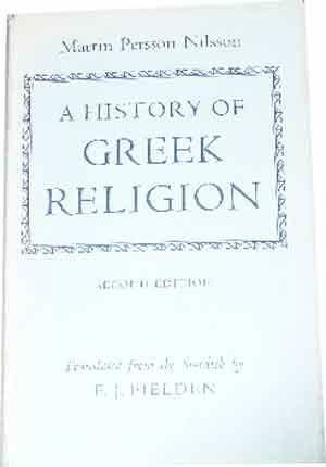 Image for A History of Greek Religion  Translated from the Swedish by F J Fielden