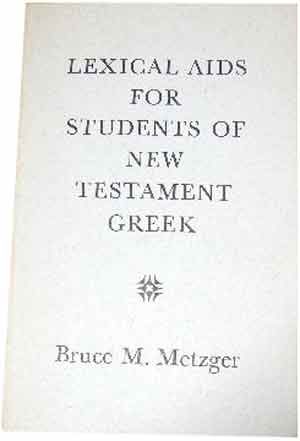 Image for Lexical Aids for Students of New Testament Greek.