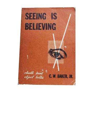 Image for Seeing is Believing.