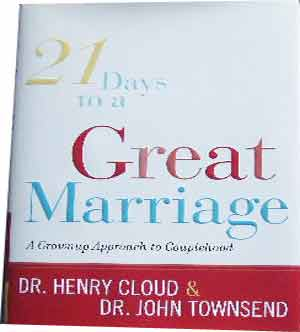 Image for 21 Days to a Great Marriage  A Grownup Approach to Couplehood