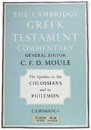 Image for The Epistles to the Colossians and to Philemon  (Cambridge Greek Testament Commentary)