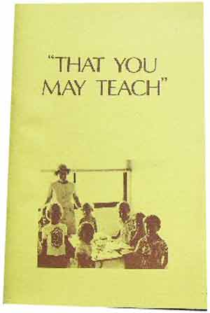 "Image for ""That You May Teach""  A Handbook for Teaching Special Religious Education in Infants and Primary Classes"