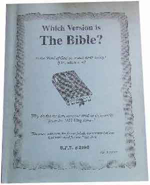 Image for Which Version is the Bible.