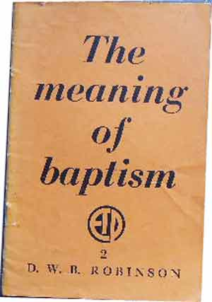Image for The Meaning of Baptism.