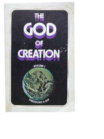 Image for The God of Creation Volume 1 Genesis 1 - 3.