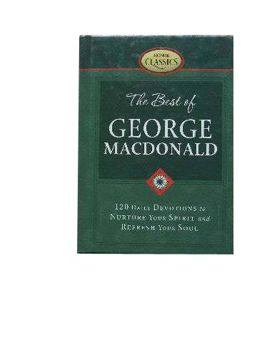 Image for The Best of George MacDonald  120 Daily Devotions to Nurture Your Spirit and Refresh Your Soul