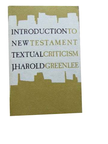 Image for Introduction to New Testament Textual Criticism.