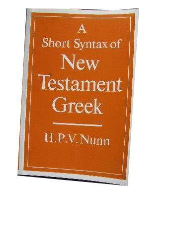 Image for A Short Syntax of New Testament Greek.
