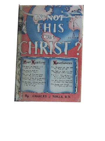Image for Is Not This the Christ?