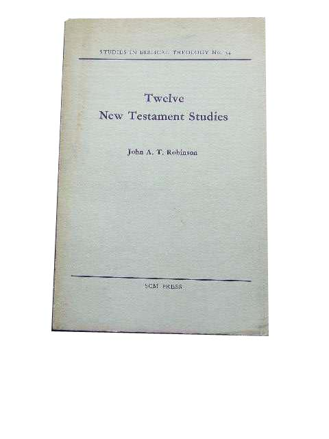 Image for Twelve New Testament Studies  (Studies in Biblical Theology No. 34)