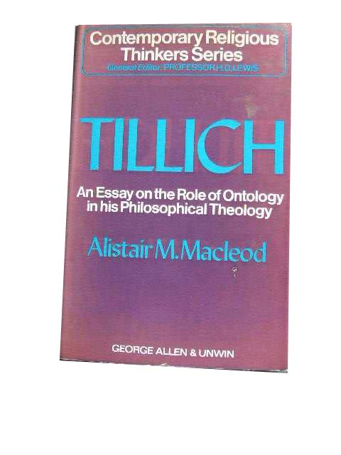 Image for Paul Tillich. An Essay on the Role of Ontology in his Philosophical Theology.