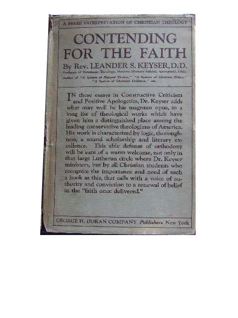Image for Contending for the Faith  A Book to foster belief & banish doubt.