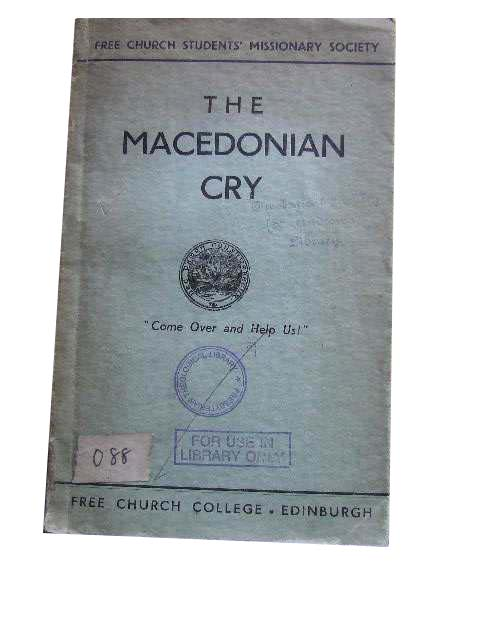 Image for The Macedonian Cry.