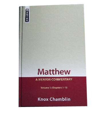 Image for Matthew Volume 1 (Chapters 1-13)  A Mentor Commentary