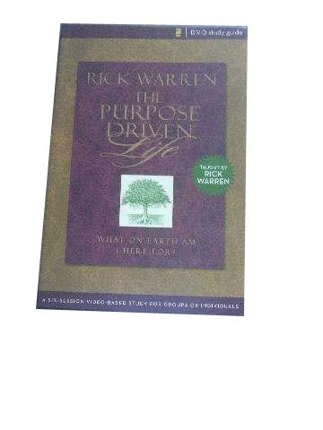Image for The Purpose Driven Life DVD Study Guide  What On Earth Am I Here For?