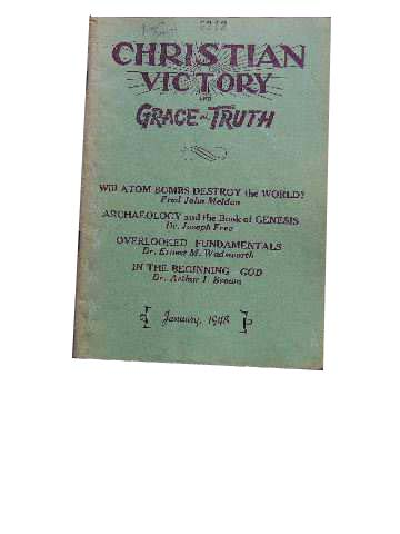 Image for Christian Victory and Grace and Truth January 1948 Vol 24 : No 231.