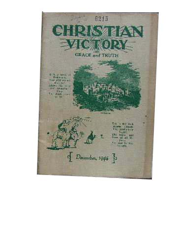 Image for Christian Victory and Grace and Truth December 1948 Vol 24 : No 241.