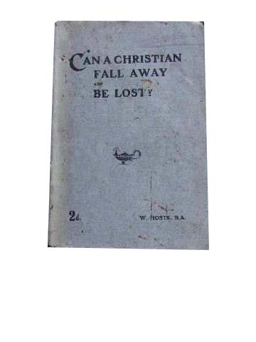 Image for Can A Christian fall away and Be Lost?
