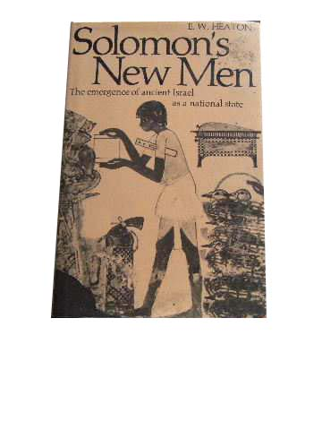Image for Solomon's New Men  The Emergence of Ancient Israel as a Nation State
