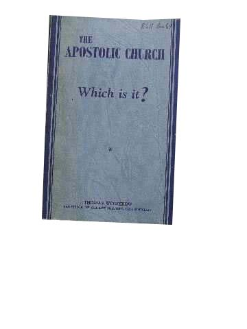 Image for The Apostolic Church.