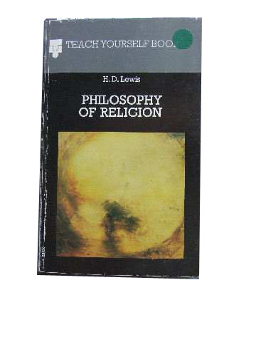 Image for Philosophy of Religion.